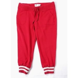 Old Navy Ladies Red Heavy Comfort Joggers